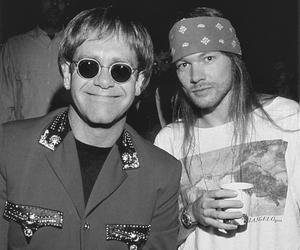 axl rose, elton john, and Guns N Roses image
