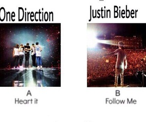 one direction, justin bieber, and 1d image
