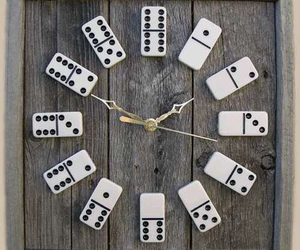 clock, diy, and domino image