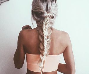 hair, doble, and trenza image