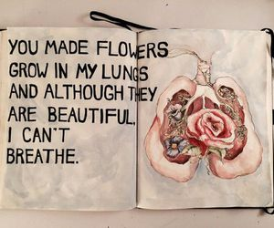 flowers, quotes, and lungs image