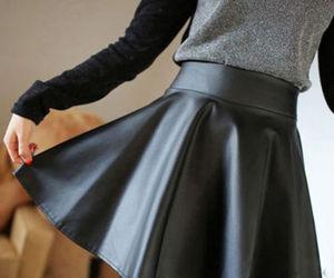 skirt and black image