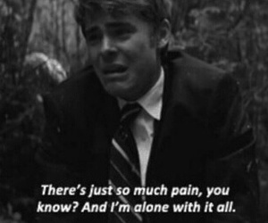 pain, alone, and sad image