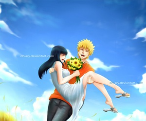 naruto, couple, and hinata image
