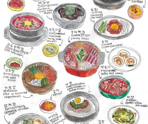 drawing, food, and korean food image