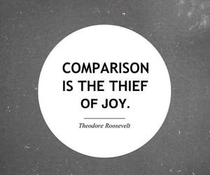 quote, joy, and comparison image