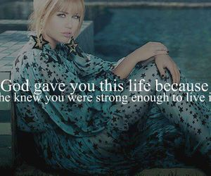 miley cyrus, quote, and god image
