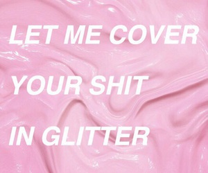 pink, glitter, and rihanna image