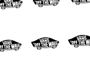vans, background, and black and white image