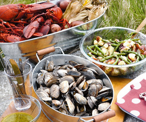 food and lobster image