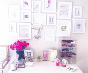 decor, flower, and girly image