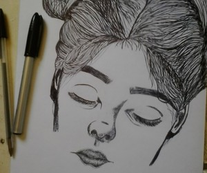 art, draw, and girls image