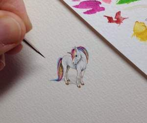 unicorn, art, and drawing image