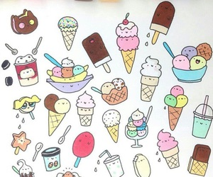 doodles, ice cream, and cute image