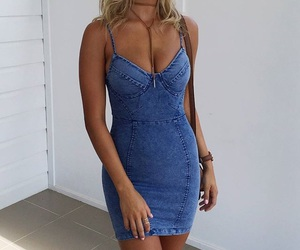 dress, jeans, and style image