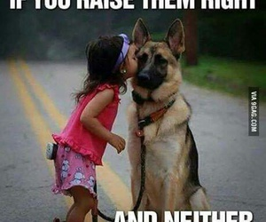 dog, funny, and children image