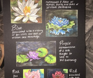 flowers, my art, and lotus image
