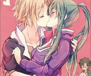 anime, kiss, and anime couple image