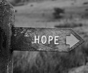 black and white, grunge, and hope image