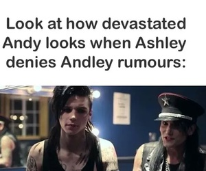 andy biersack, ashley purdy, and andley image