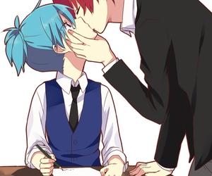 couple, shiota nagisa, and kiss image