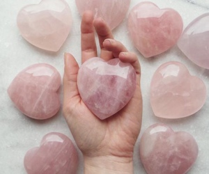 pink, heart, and hand image