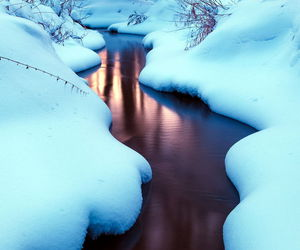 nature, water, and snow image
