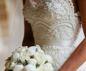 wedding, ball gown, and dress image