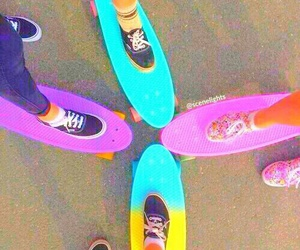 skate, vans, and friends image