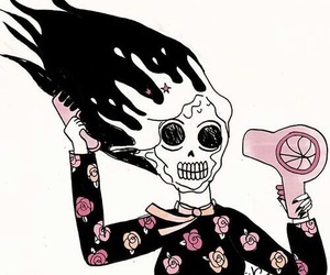 valfre, skull, and art image