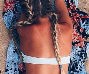 beach, blond, and braid image