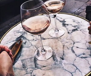 drink, wine, and food image