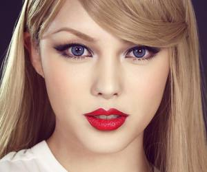 pony, makeup, and Taylor Swift image