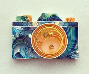 art, camera, and blue image