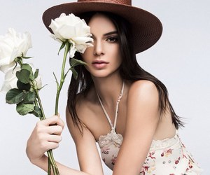 kendall jenner, model, and flowers image