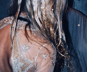 glitter, hair, and blonde image