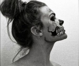 girl, updo, and zombieboy image