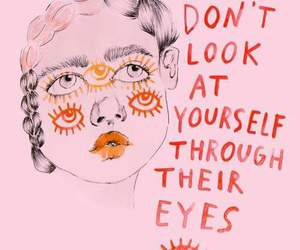 quotes, pink, and eyes image