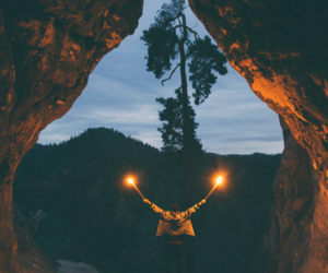 light, nature, and grunge image