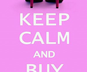 keep calm, shoes, and pink image