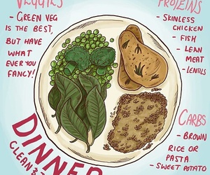 dinner, healthy, and fitness image