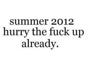summer, 2012, and text image