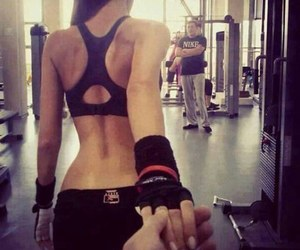 fitness, workout, and couple image
