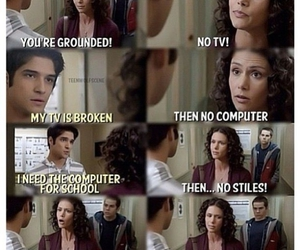 scott mccall, stiles stilinski, and mama mccall image