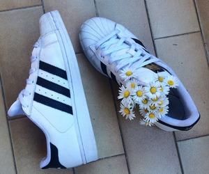 adidas, fashion, and flowers image