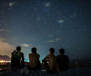 friends, stars, and night image