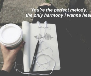 coffe, song, and just saying image