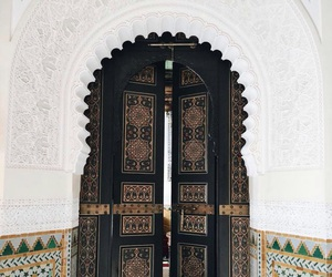 architecture, door, and morocco image