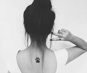 tattoo, paws, and black image