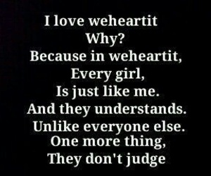 understand, we heart it, and weheartit image